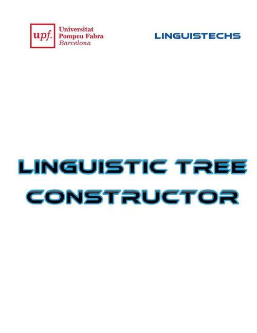 Linguistic Tree Constructor -Ro