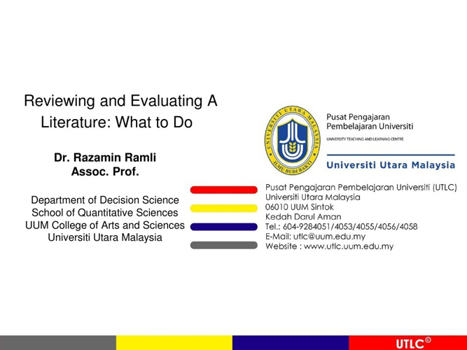 Reviewing-Evaluating Literature Version2013-wm