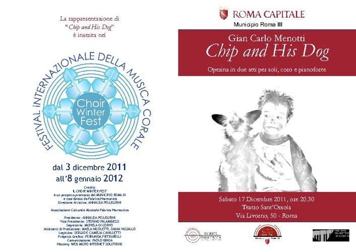 "PROGRAMMA DI SALA : CHOIR WINTER FEST- ""Chip e il suo cane"""