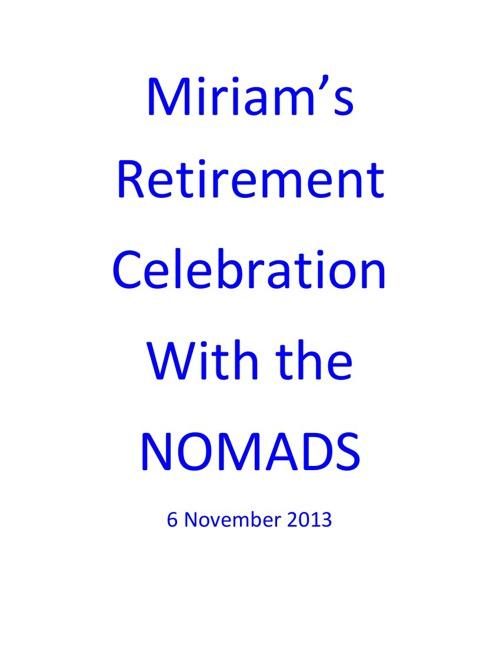 Miriam's Retirement