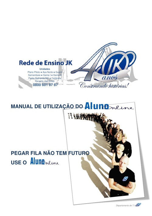 Manual aluno on-line - Faculdade JK