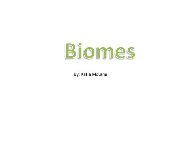 Biome Book Final