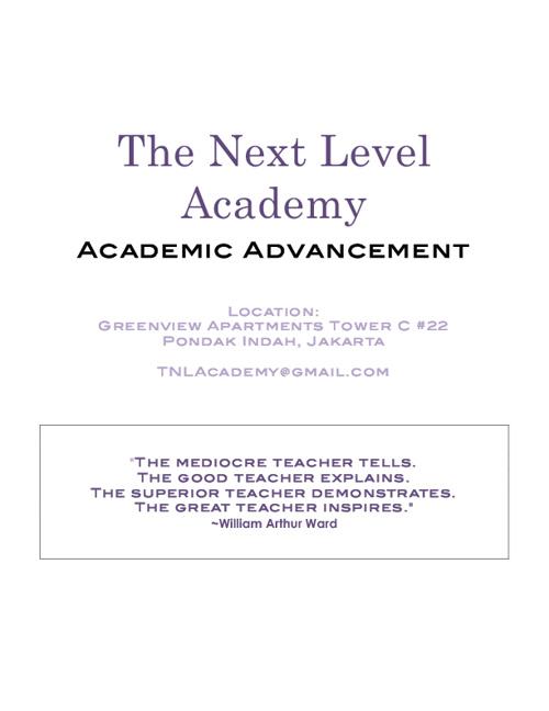 TNL Academy 2013