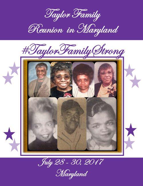 2017 - Taylor Fam Reunion Souvenir   Booklet