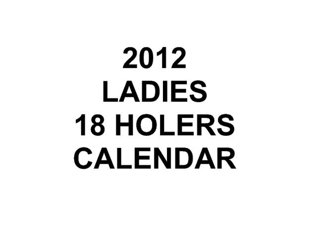 2012 Calendar 18Holers
