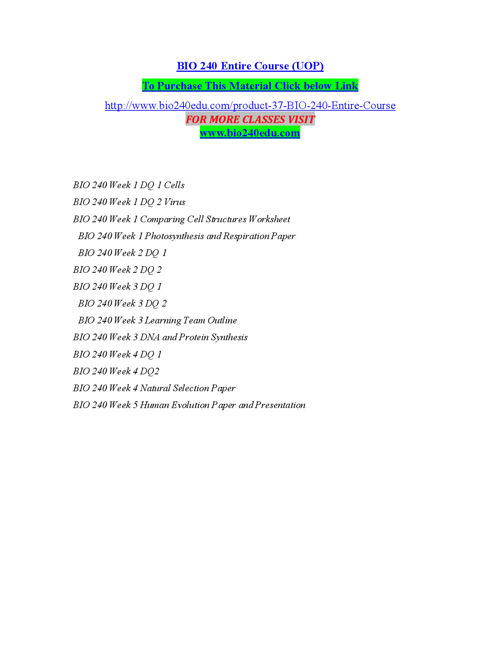 BIO 240 EDU Peer Educator/ bio240edu.com