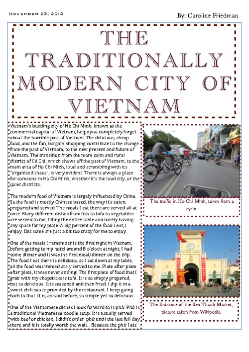 The Traditionally Modern City of Vietnam