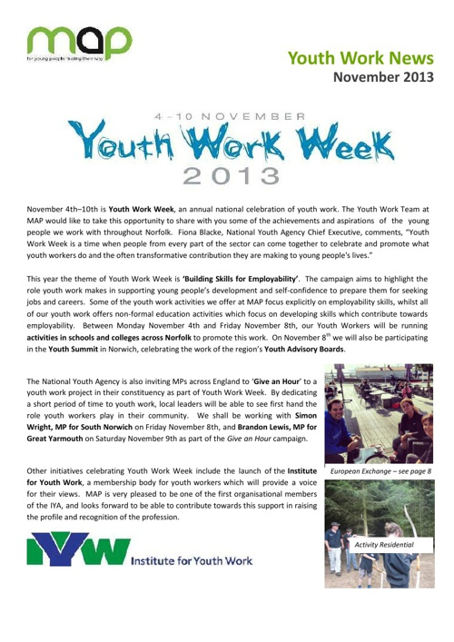 MAP Youth Work Week 2013