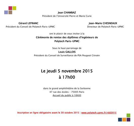 Polytech Paris-UPMC - Invitation rdd 2015