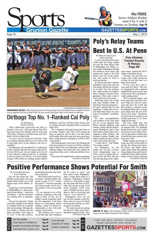 Gazette Sports   May 1, 2014