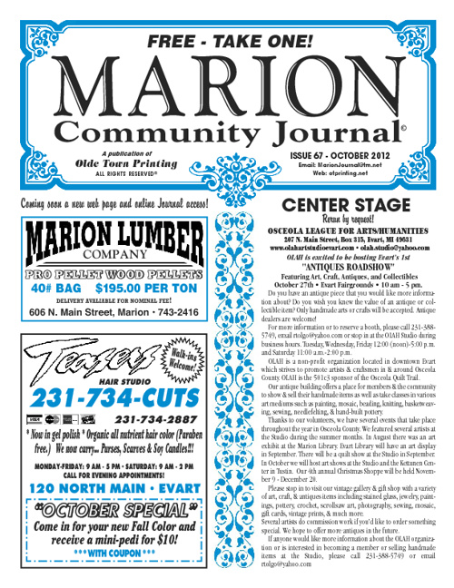 Marion Journal Oct. 2012
