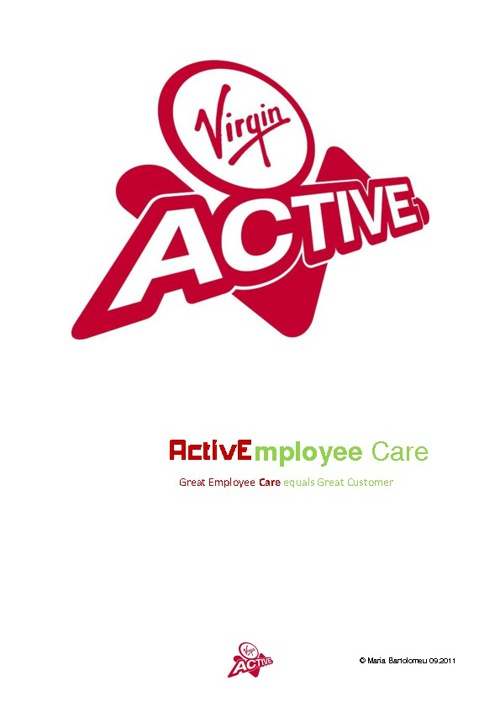 ActivEmployee Care Virgin Active Health Clubs
