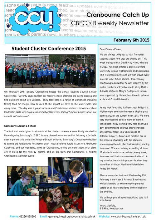 CCU - 6th February 2015