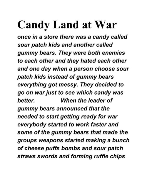 candyland goes to war