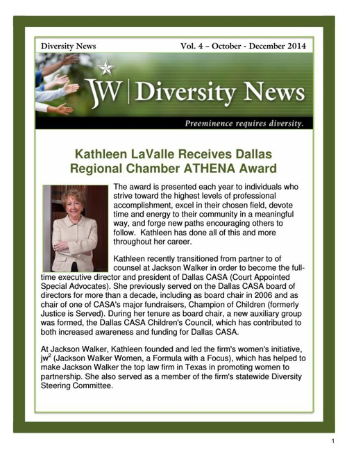 JW Diversity News