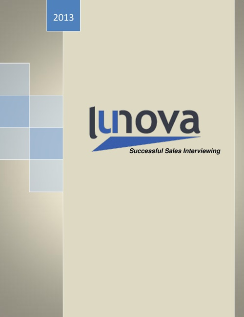 Lunova Group Successful Sales Interview Packet 2