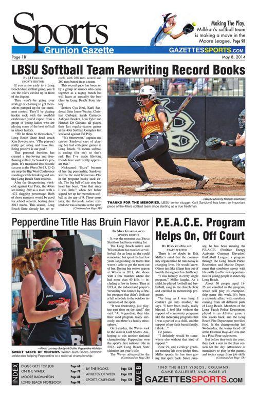 Gazette Sports   May 8, 2014