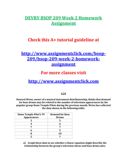 DEVRY BSOP 209 Week 2 Homework Assignment