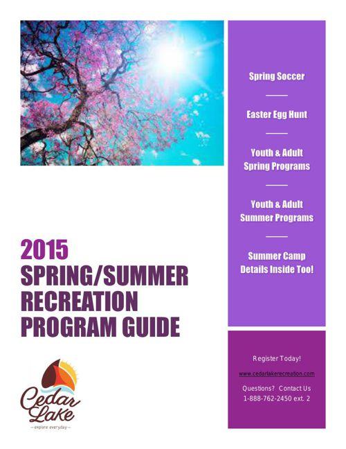 2015 Spring/Summer - Cedar Lake Recreation Brochure