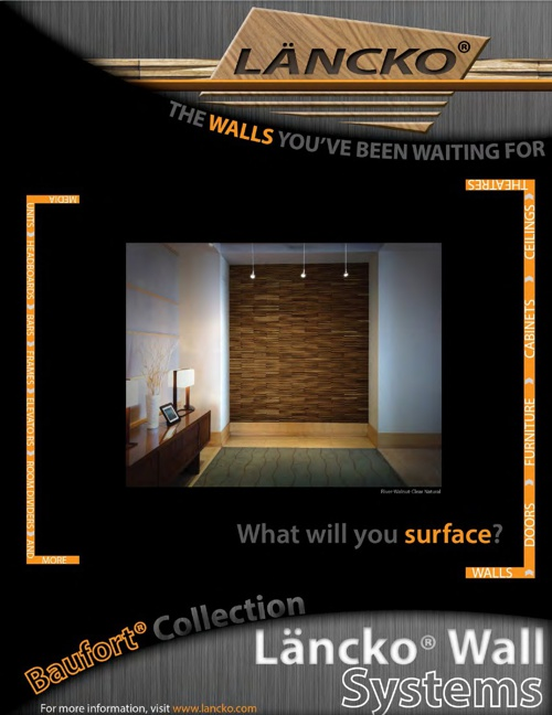 LANCKO WALL SYSTEMS. THE BAUFORT COLLECTION OF WOOD TILES V1.3