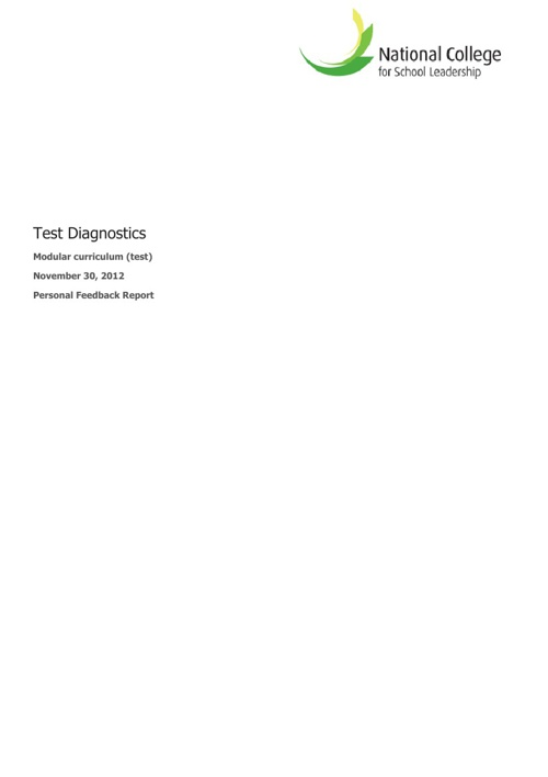 360 Diagnostic Report