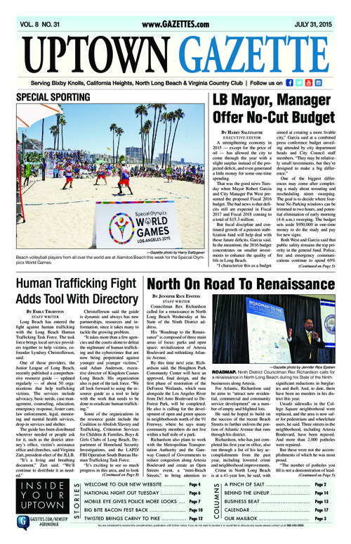 Uptown Gazette     July 31, 2015