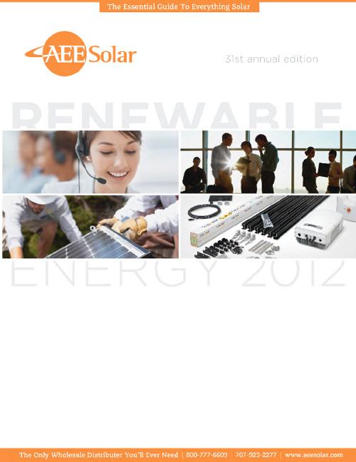 AEE Solar Catalog 2012