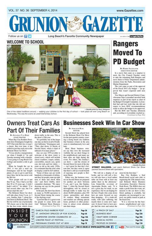 Grunion Gazette | September 4, 2014