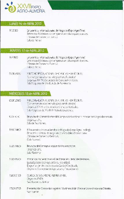 Dossier de Prensa Expo agro - Almería 2012