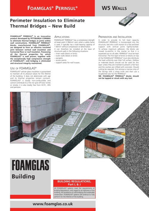 Foamglas perinsul Thermal break block