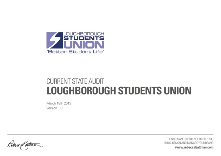 Current State Audit: Lougborough Students Union