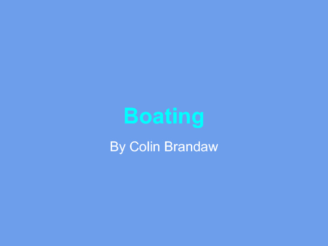 Boating by Colin