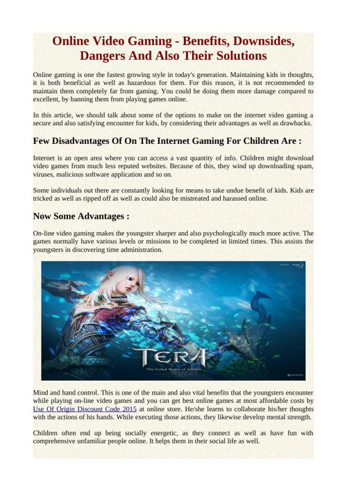 Online Video Gaming - Benefits, Downsides, Dangers And Also Thei