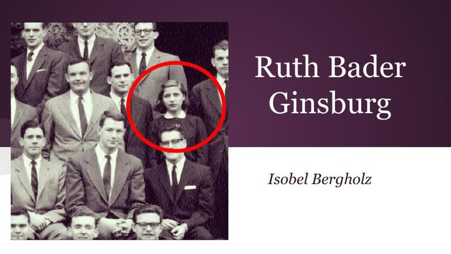 About Ruth Bader Ginsburg