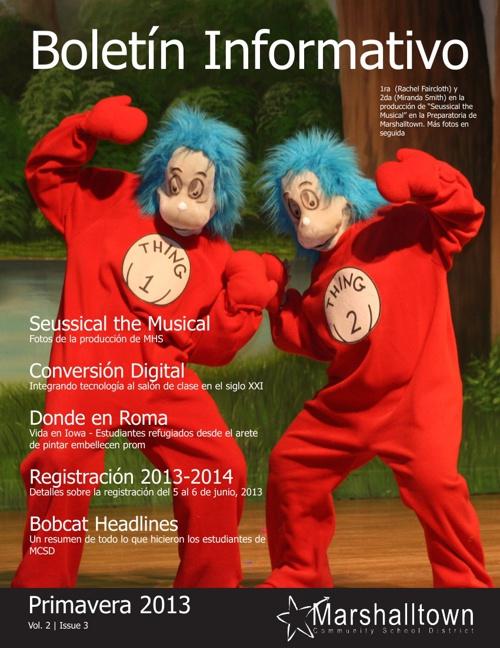 MCSD Newsletter - Spring 2013 (Spanish)