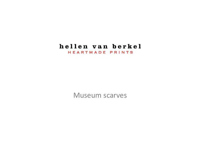Museum scarves Hellen van Berkel