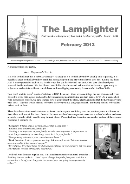 RPC Lamplighter February 2012