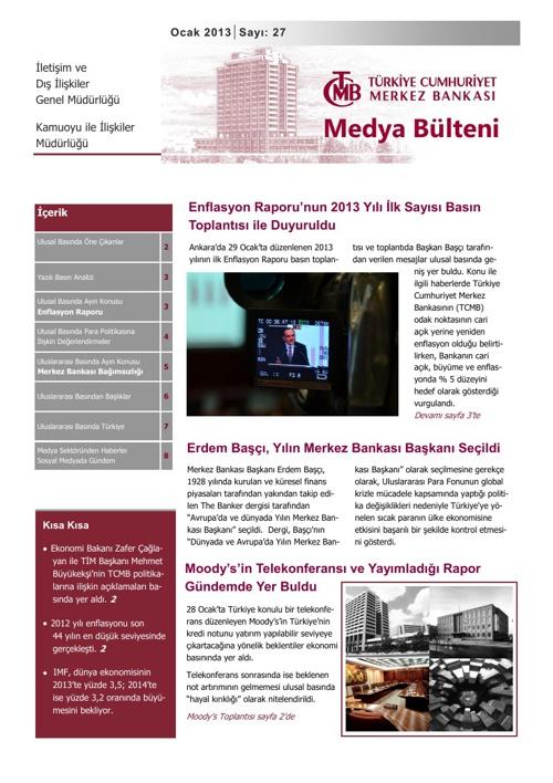 Medya Bülteni Ocak 2013