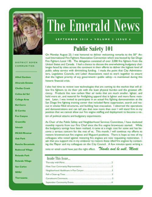 The Emerald News: Volume 2, Issue 5 (September 2010)
