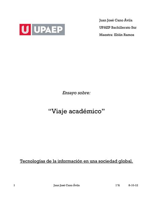 Viaje académico