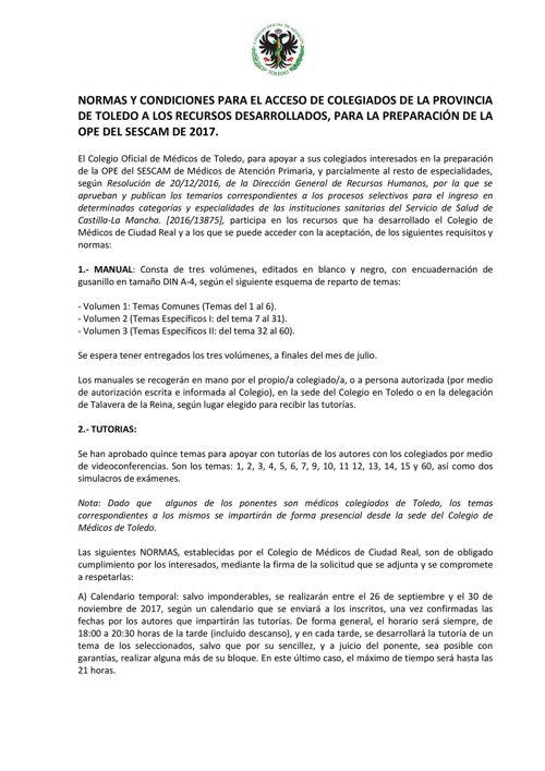 FORMULARIO Y NORMAS SIN CC OPE 2017 (TOLEDO)