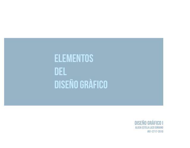 Elementos del diseño gráfico