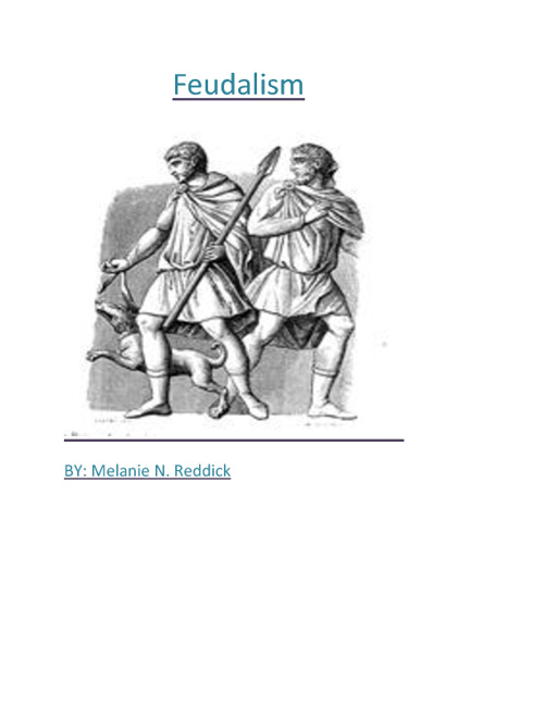 Feudalism Flipbook