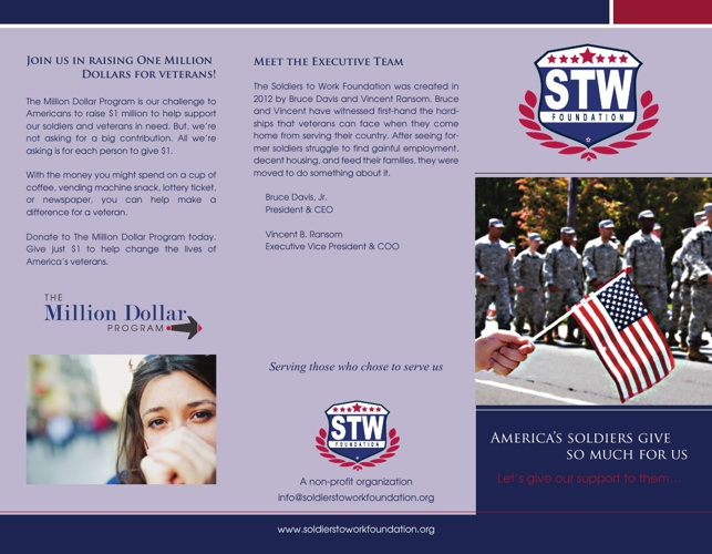 Soldiers to Work Brochure