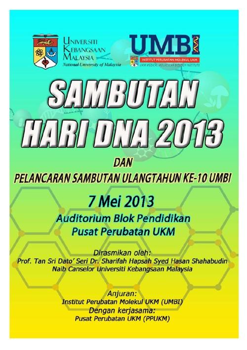 Buku Program Hari DNA 2013
