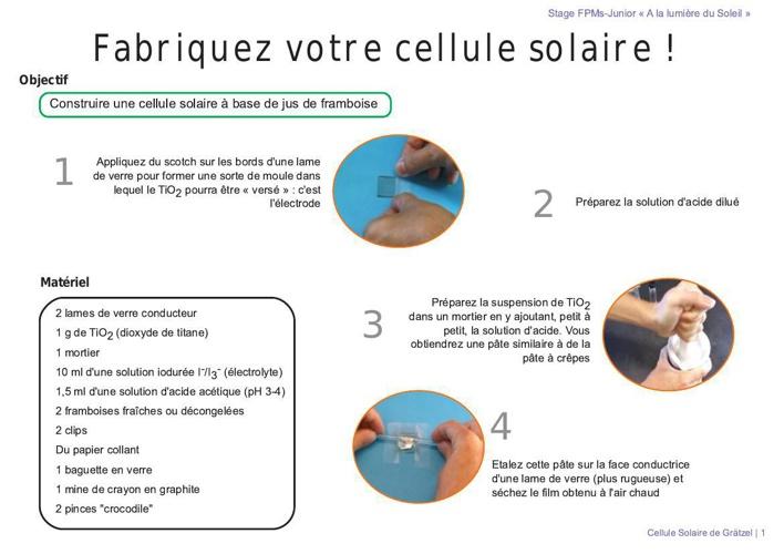 fabriquez votre cellule solaire