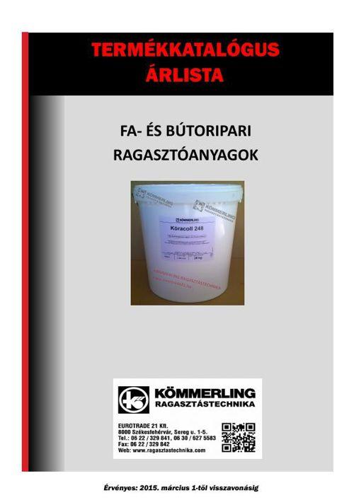 Fa- és bútoripari termékkatalógus és árlista