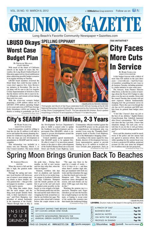 Grunion Gazette | March 8, 2012