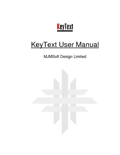Key Text User's Manual