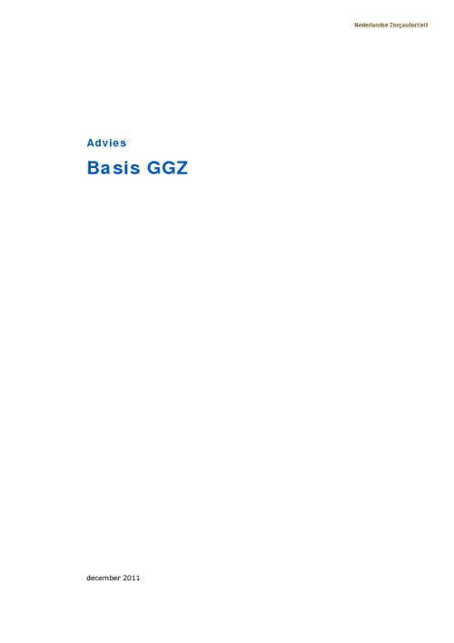 basis GGZ advies NZA